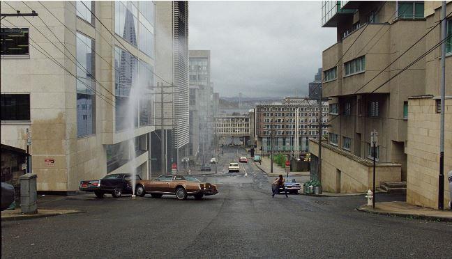 Glasgow'n skannattuja katuja San Franciscoksi muutettuna.