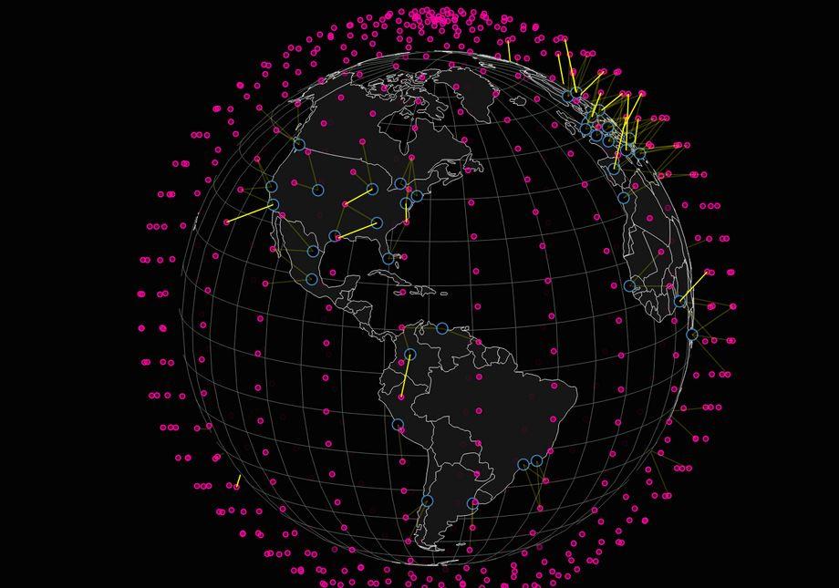 Nextbigfuture-sivustolla esitetty skemaattine  kuvaus Muskin 4000 satelliitin järjestelmästä.
