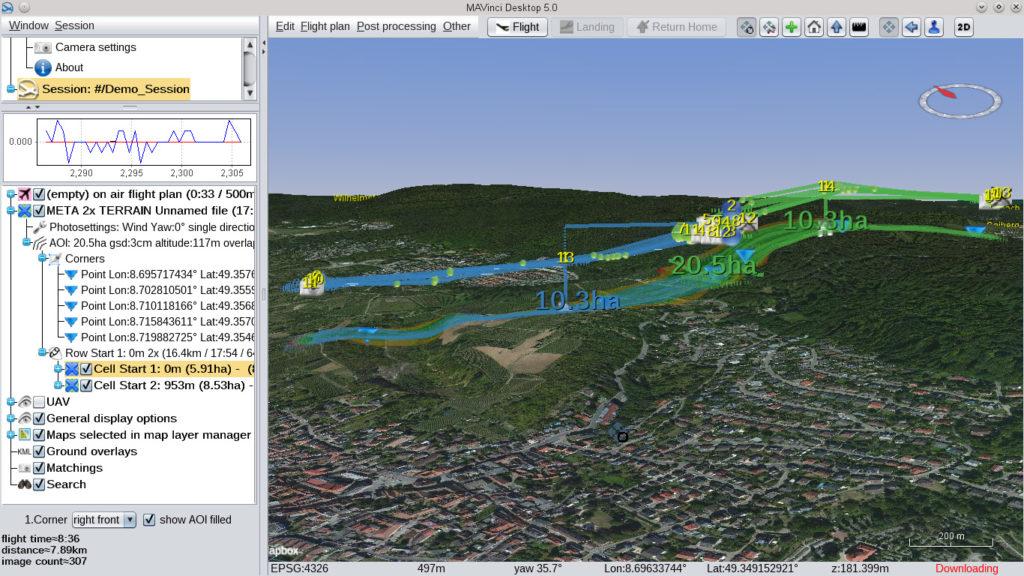 Sirius 5.0 3D flight planning
